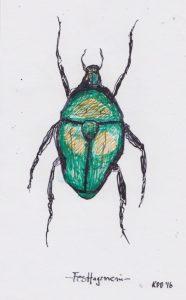 Käfer, Tuschezeichnung von kai Du